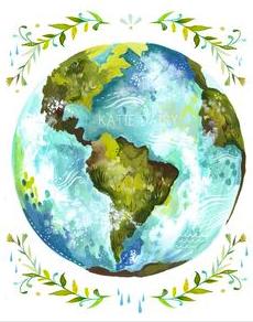 """""""Dear Earth"""" by Katie Daisy via etsy"""